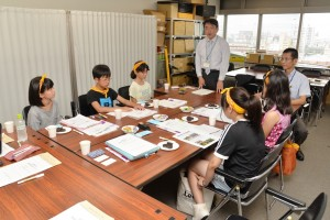 京都府庁、危機管理部で意見交換の時間