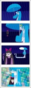マリーナの幸せな雨-4コマ漫